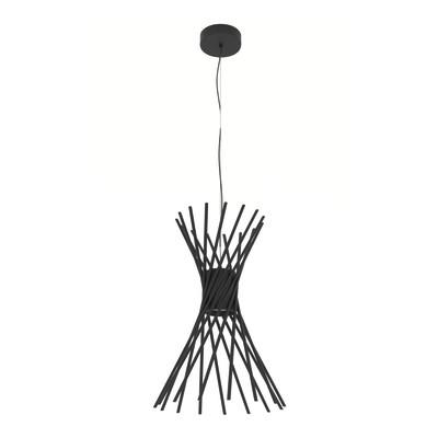 Lampadario Reel nero, in metallo, diam. 35 cm, LED integrato 7.5W 800LM IP20 LUMICOM