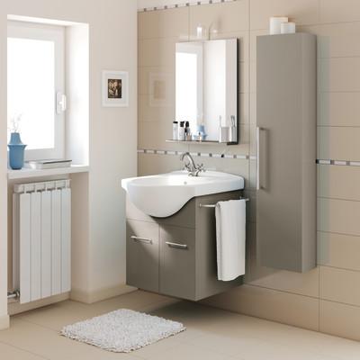 Mobile bagno Ginevra tortora L 56.5 cm