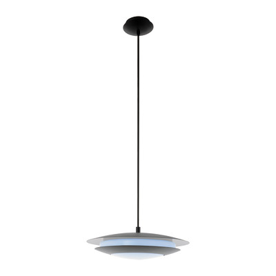 Lampadario Moneva verniciato nero, in metallo, diam. 40.5 cm, LED integrato 18W 2300LM IP20 EGLO