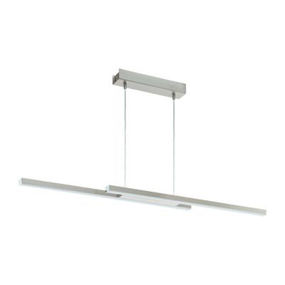 Lampadario Fraioli struttura metallo verniciato finitura nickel satinato, in alluminio, LED integrato 34W 2300LM IP20 EGLO