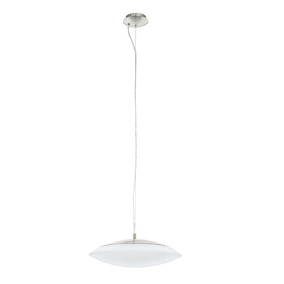 Lampadario Frattina finitura nickel satinato, in metallo, diam. 43.5 cm, LED integrato 27W 3400LM IP20 EGLO