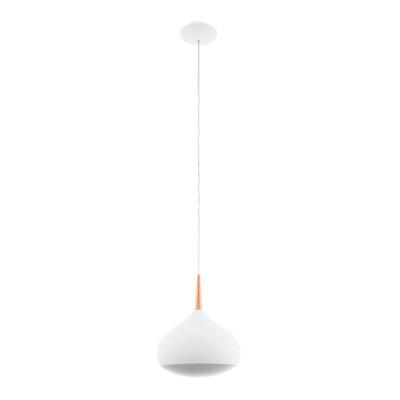 Lampadario Comba verniciato bianco e finitura rame, in metallo, diam. 29 cm, LED integrato 18W 2300LM IP20 EGLO