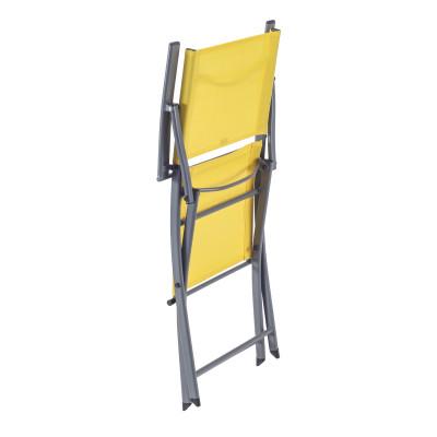 Poltrona NATERIAL in acciaio colore giallo