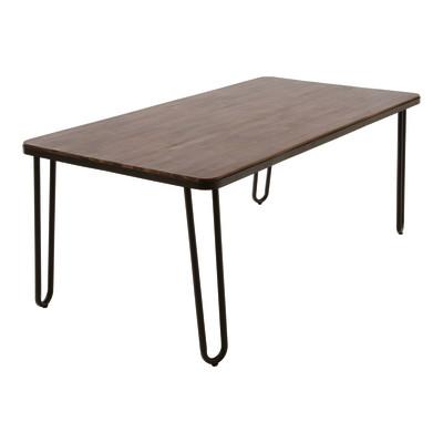 Tavolo da giardino rettangolare Petra in acciaio L 100 x P 200 cm