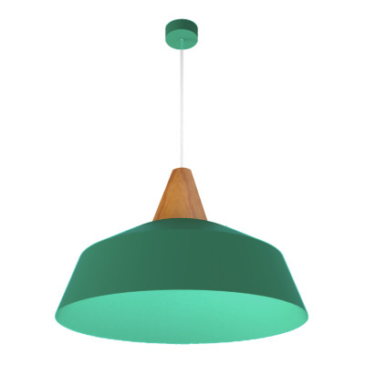 Lampadario Kon verde, in metallo, diam. 50 cm, E27 MAX53W IP20 LUMICOM