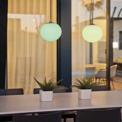 Lampada da esterno Norai H24cm, in plastica, luce colori cangianti, LED integrato IP65