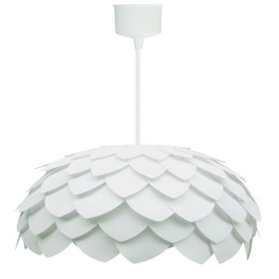 Lampadario Pinecone bianco, in plastica, diam. 40 cm, E27 MAX60W IP20 INSPIRE