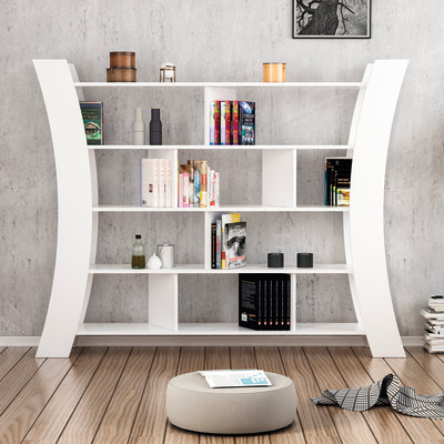 Libreria Inner 5 ripiani L 188 x P 33 x H 150 cm