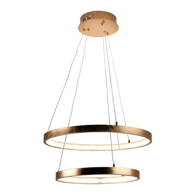Lampadario JOY foglia oro, in alluminio, diam. 50 cm, LED integrato 36W 31LM IP20