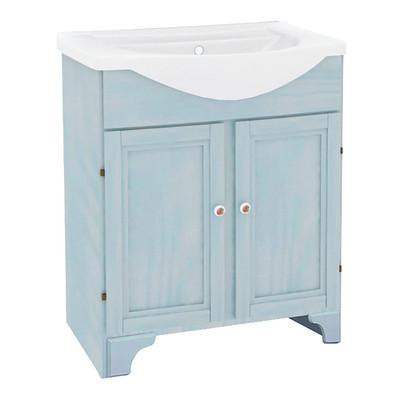 Mobile bagno Laura azzurro L 65 cm