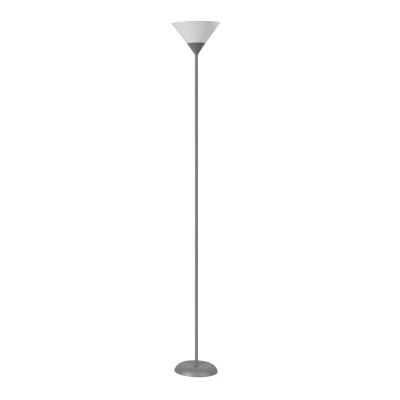 Lampada da terra Argento grigio, in metallo, H179cm, MAX60W