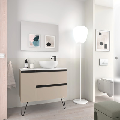 Mobile bagno bianco L 84.8 cm