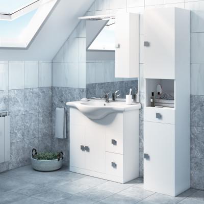 Mobile bagno Super bianco L 85 cm