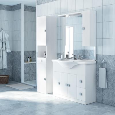 Mobile bagno Super bianco L 105 cm