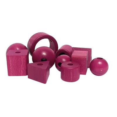 Accessorio per lampadario in legno rosa 11 pezzi