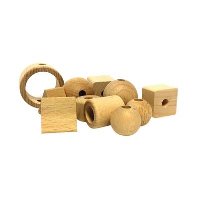 Accessorio per lampadario in legno beige 11 pezzi