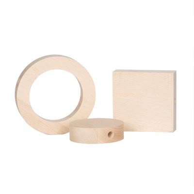 Accessorio per lampadario in pvc marrone 3 pezzi
