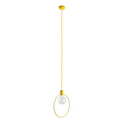 Lampadario Babs giallo, in metallo, diam. 27 cm, E27 MAX42W IP20