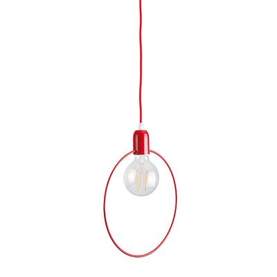 Lampadario Babs rosso, in metallo, diam. 27 cm, E27 MAX42W IP20