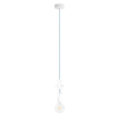 Lampadario Bambino bianco, in tessuto, diam. 10 cm, E27 MAX40W IP20