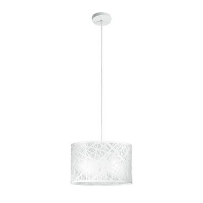 Lampadario Batik bianco, in metallo, diam. 35 cm, E27 MAX42W IP20