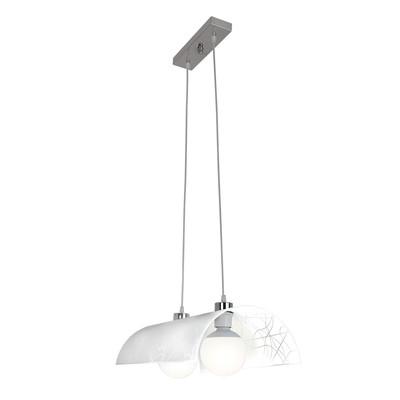 Lampadario Elle bianco, in metallo, E27 2xMAX42W IP20