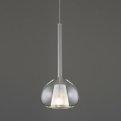 Lampadario Beba trasparente, in vetro, diam. 13 cm, G9 MAX60W IP20 SFORZIN