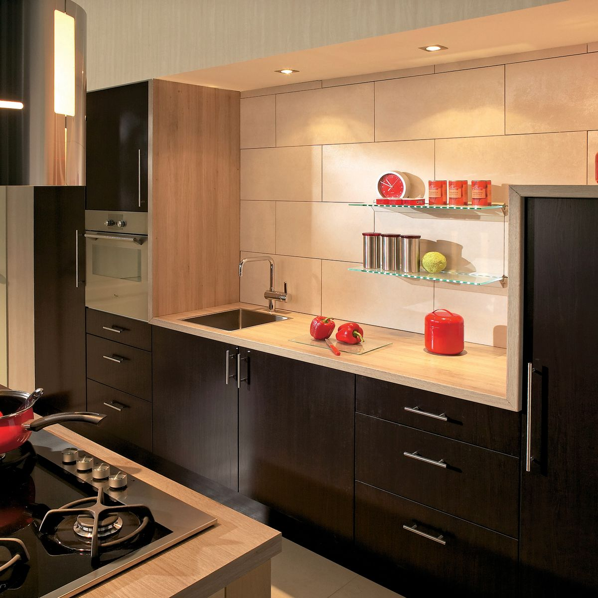 Favoloso Cucina Wenge Delinia: prezzi e offerte online   Leroy Merlin RQ67