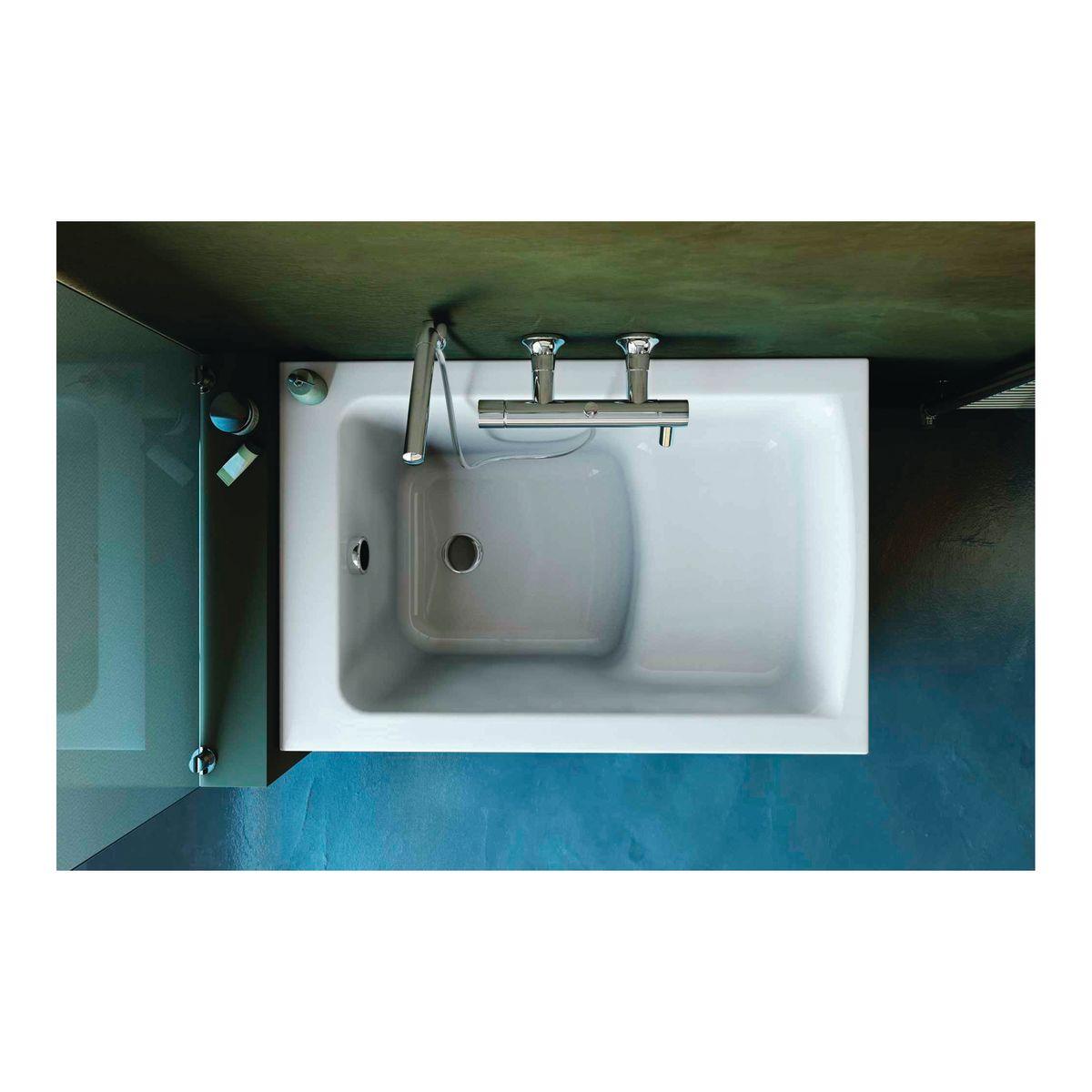 Vasca ideal standard flower 105 x 70 cm prezzi e offerte for Trasformare vasca in doccia leroy merlin