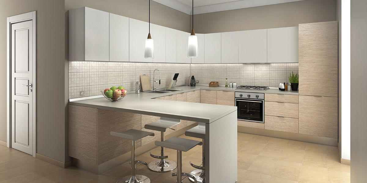 Eccezionale Arredare una cucina con penisola in stile classico e moderno VI07