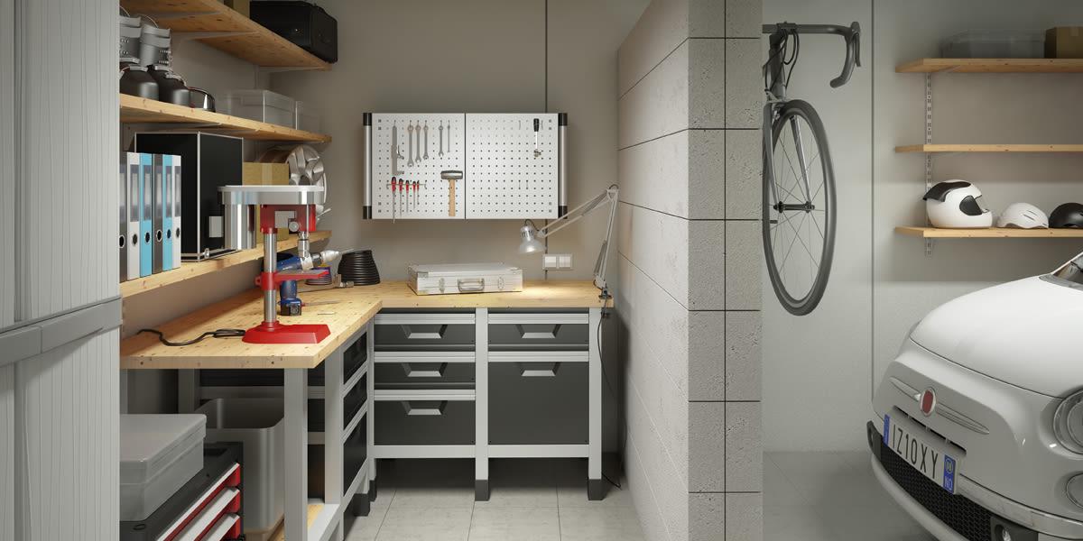 Très Organizzare il garage - Soluzioni box | Leroy Merlin BG09