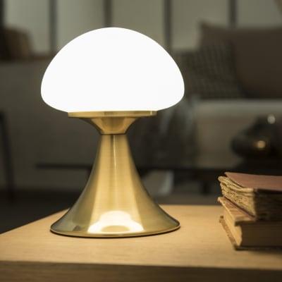 Lampada Da Comodino Glamour Kinoko Oro In Metallo Inspire Prezzo Online Leroy Merlin