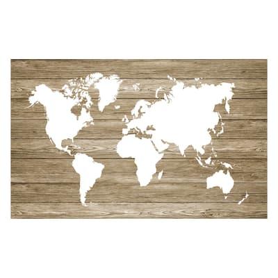 Cartina Geografica Mondo Quadro.Quadro In Legno Mappa 60x90 Cm Prezzo Online Leroy Merlin