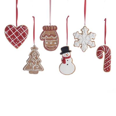 Biscotti Finti Per Albero Di Natale.Decorazione Per Albero Di Natale A Forma Di Biscotto In Sei Versioni Assortite H 8 Cm L 7 Cmx P 1 Cm Prezzo Online Leroy Merlin