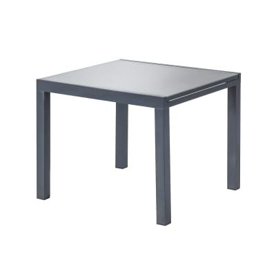 Tavolo Da Giardino Allungabile Quadrata Lyra Naterial Con Piano In Vetro L 90 160 X P 90 Cm Prezzo Online Leroy Merlin