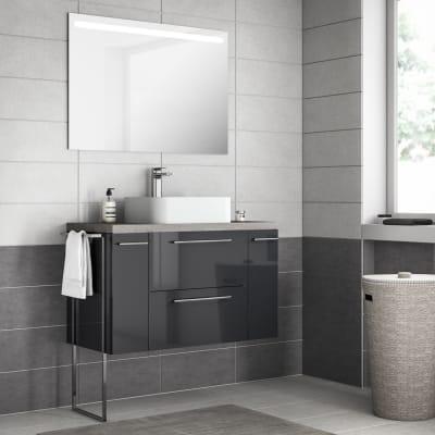 Mobile bagno Remix grigio londra L 106 cm