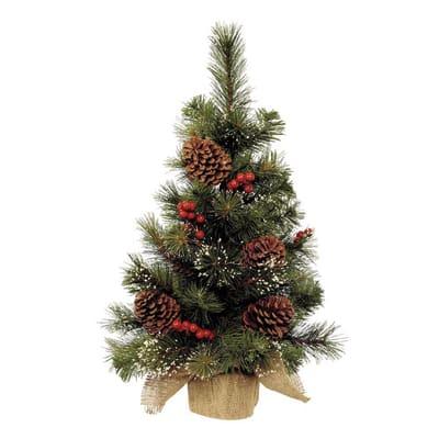Albero Di Natale Leroy Merlin.Albero Di Natale Artificiale Con Bacche Verde H 75 Cm Prezzo Online Leroy Merlin