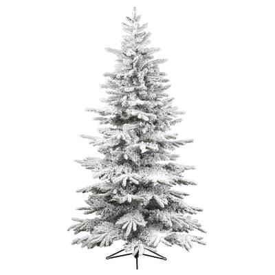 Albero Di Natale H 240.Albero Di Natale Artificiale Minnesota Verde Innevato H 240 Cm Prezzo Online Leroy Merlin