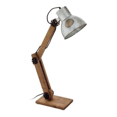Lampada Da Tavolo Vintage Frizington Marrone In Legno Eglo Prezzo Online Leroy Merlin