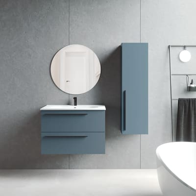 Set mobile da bagno con lavabo Unike perla L 80 cm