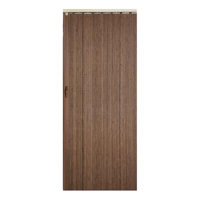 Porta a soffietto Espresso in bambù marrone L 85 x H 214 cm