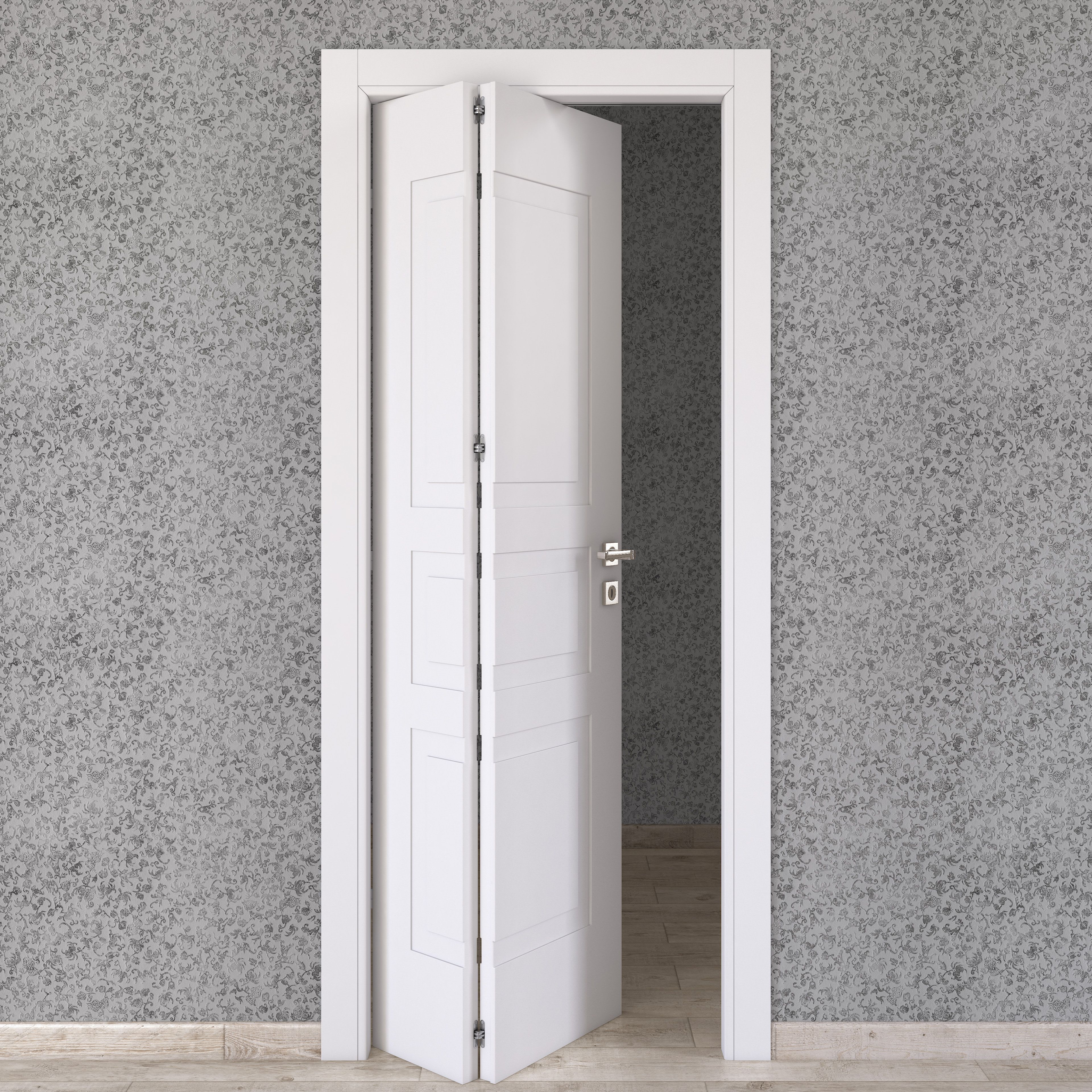 Porta da interno pieghevole asimmetrica Alioth bianco 80 x H 210 cm ...