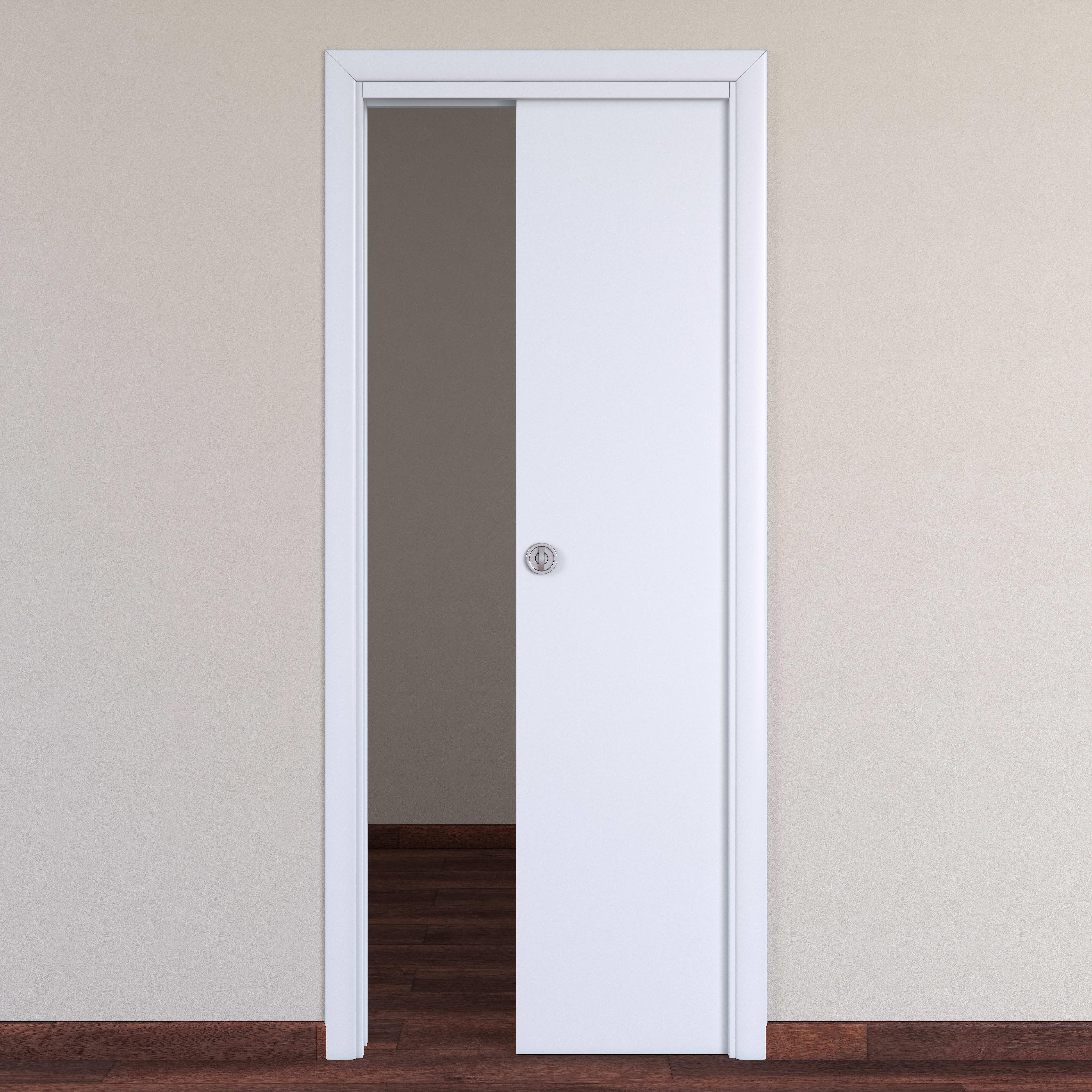 Porta da interno scorrevole Pearl bianco 80 x H 210 cm reversibile ...