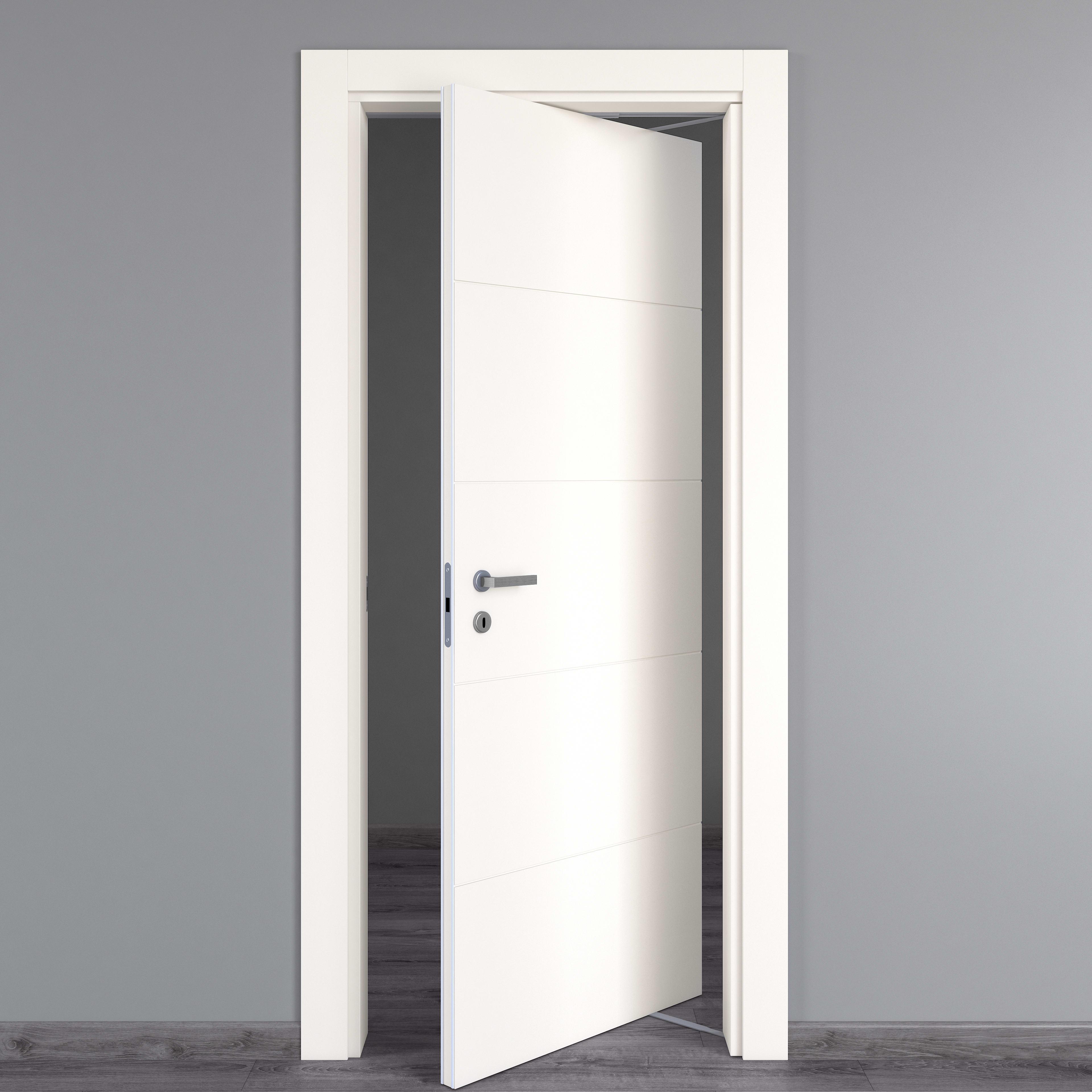 Sistema Rototraslante Per Porte.Porta Da Interno Rototraslante Prado Bianco 80 X H 210 Cm Dx Prezzi
