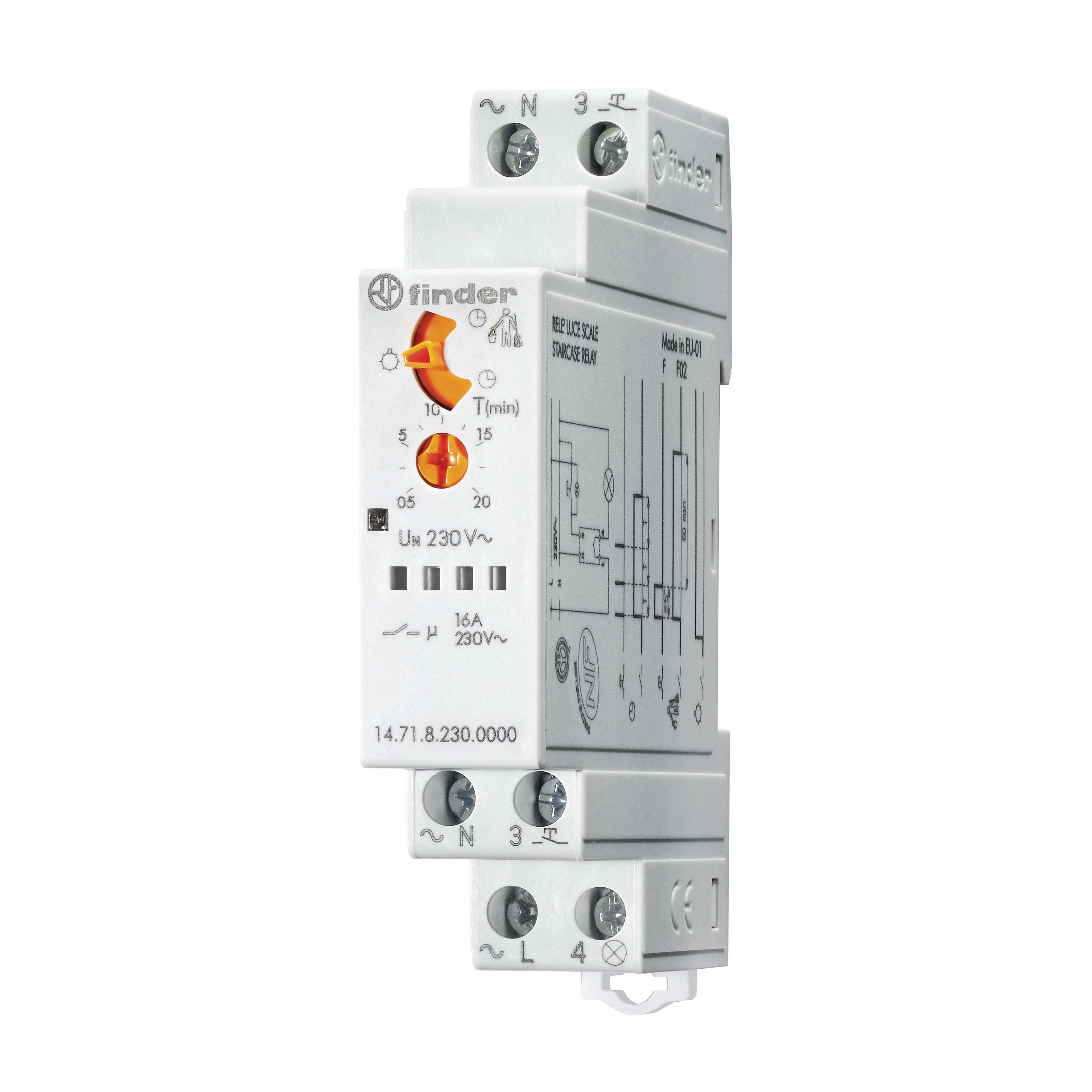 Rele/' temporizzatore luci scale guida din 24 v zamel asm02//24v