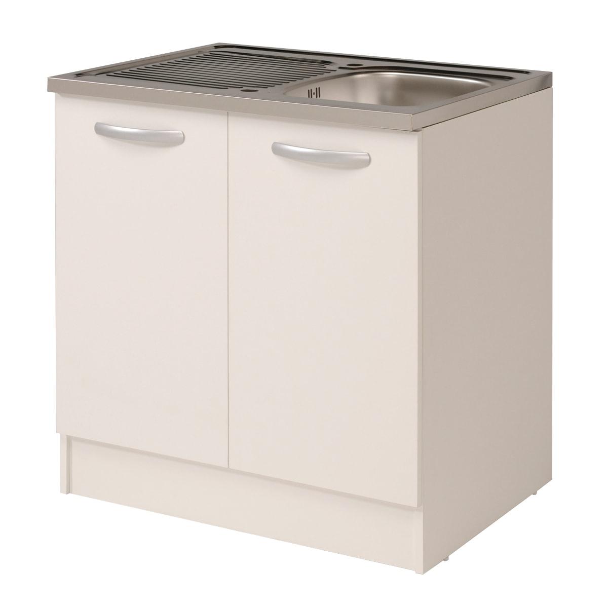 Mobile Per Lavabo Cucina base spring bianco l 80 x h 86 x p 60 cm