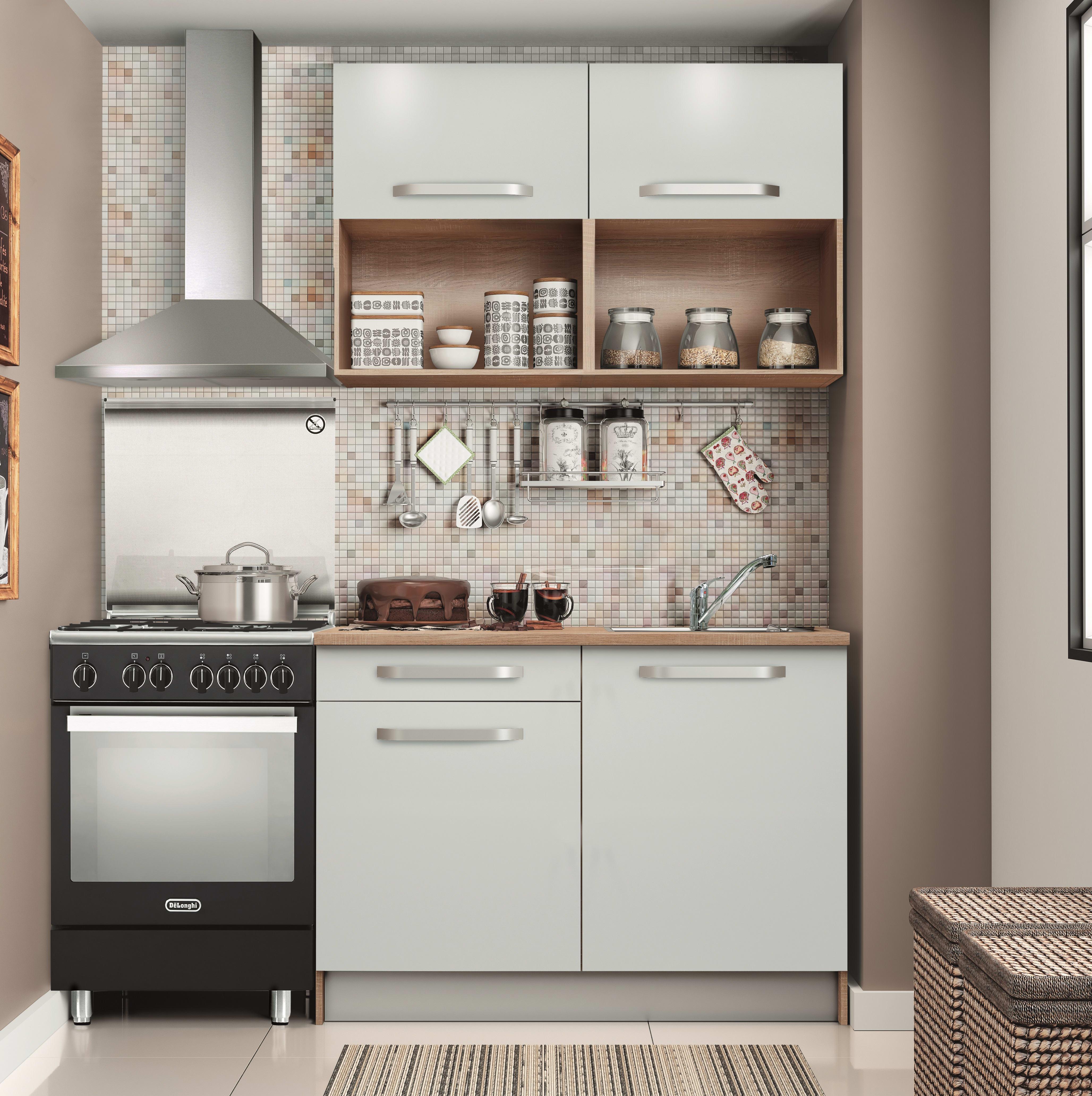 Mini Cucine A Scomparsa cucina in kit one bianco l 120 cm