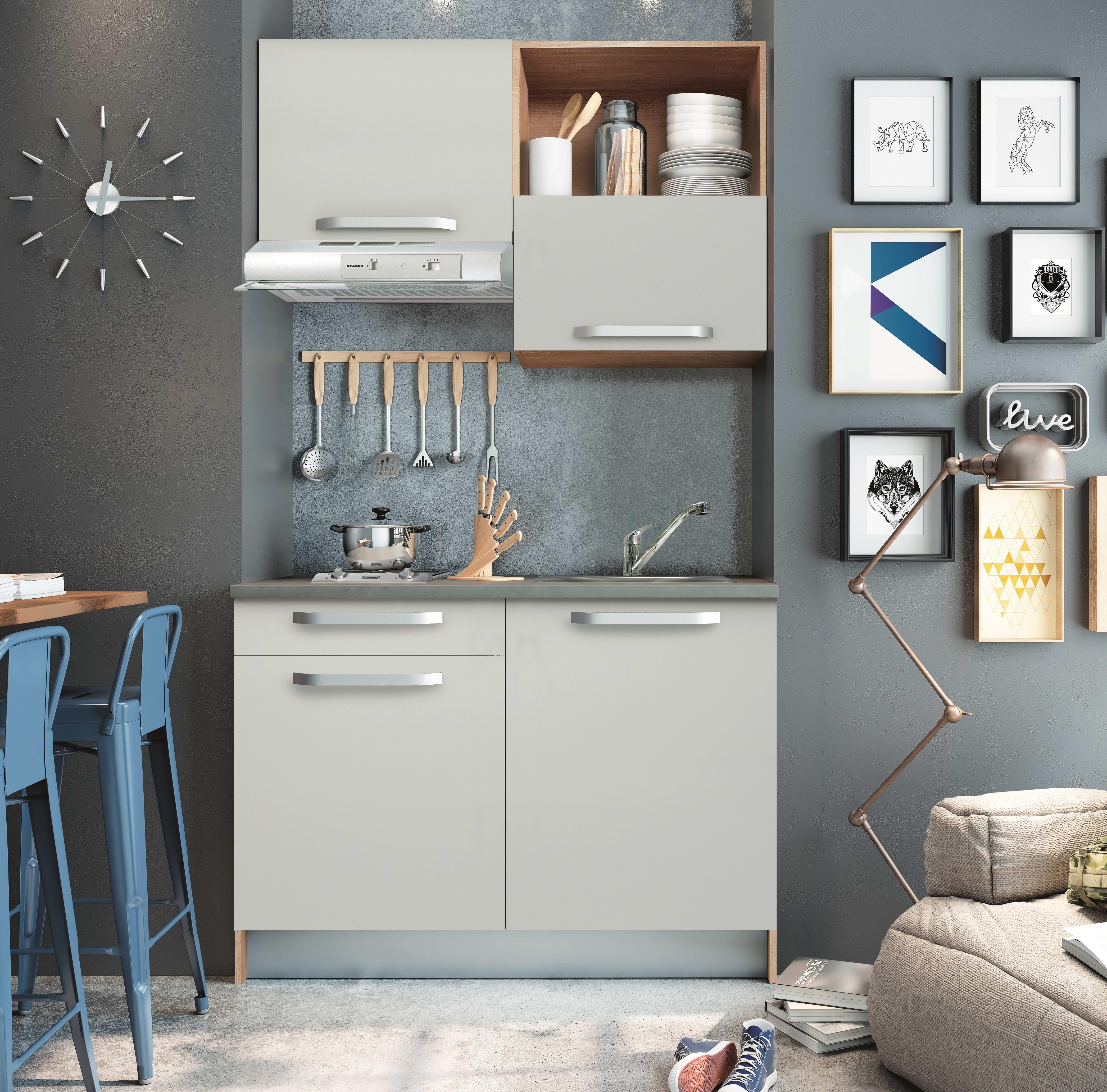 Mini Cucine Componibili Prezzi.Cucina In Kit One Bianco L 120 Cm