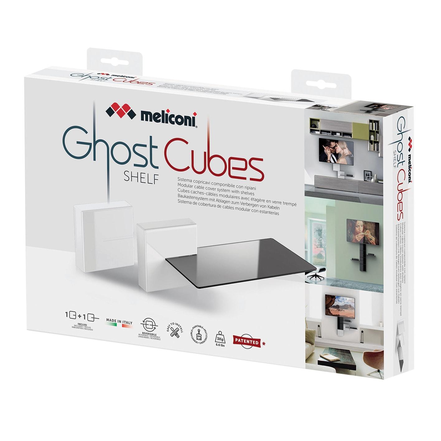 Meliconi Porta Tv Ghost Prezzi.Copricavi Ghost Cubes Shelf Plastica