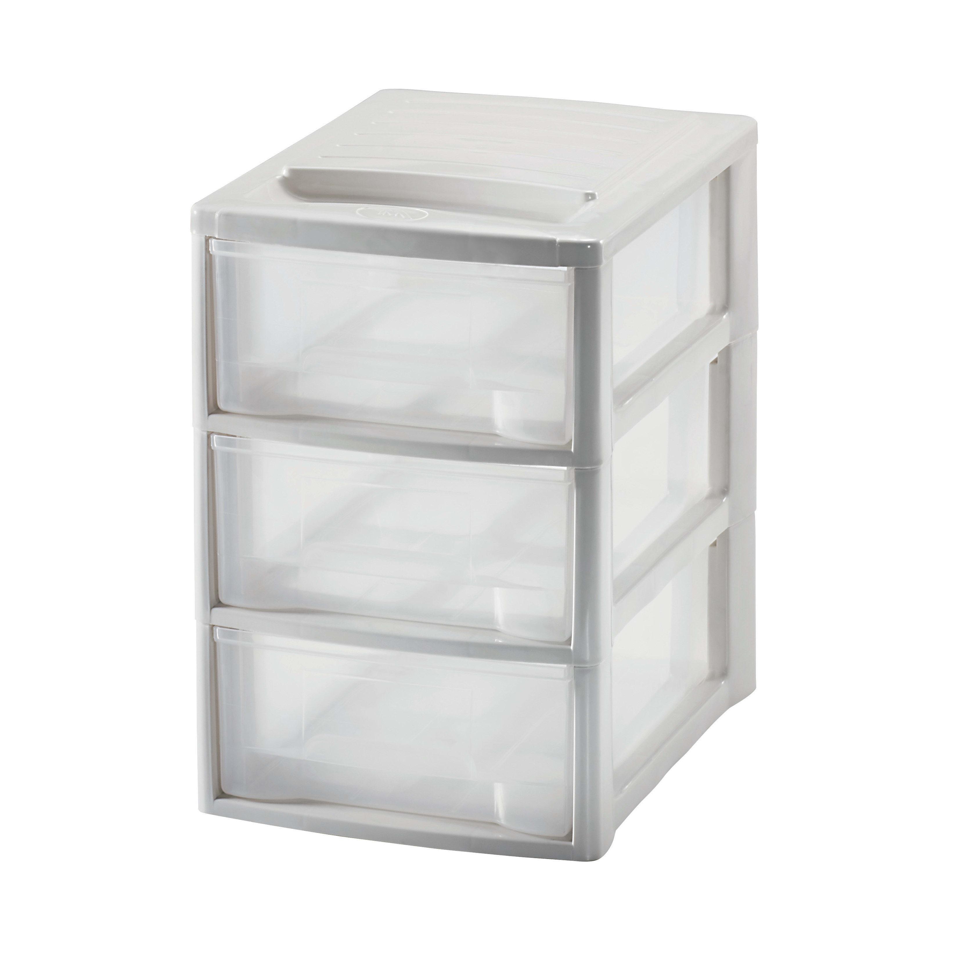 Cassettiere Per Armadi In Plastica.Cassettiera L 19 5 X P 26 X H 28 5 Cm Bianco Prezzi E Offerte